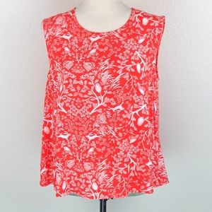 Old Navy Floral Animal Print Swing Tank Top